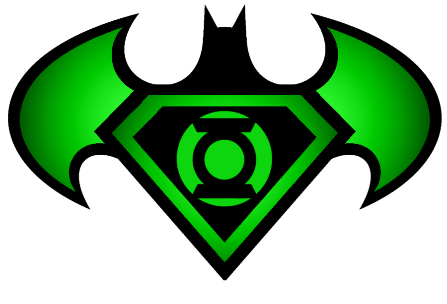 900x613 Superman Batman Green Lantern Logo By Kalel7