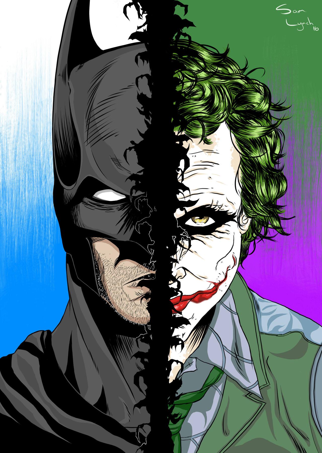 1280x1797 Batman Vs Joker By Samscave