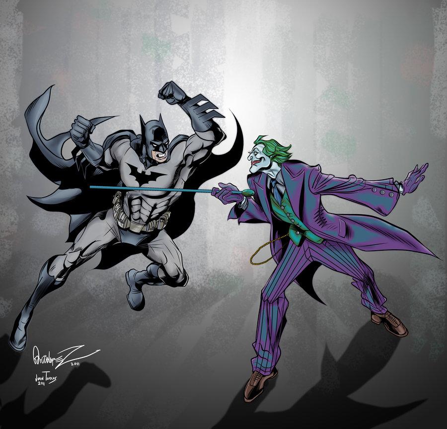 900x864 Batman Vs Joker By Inhuman00