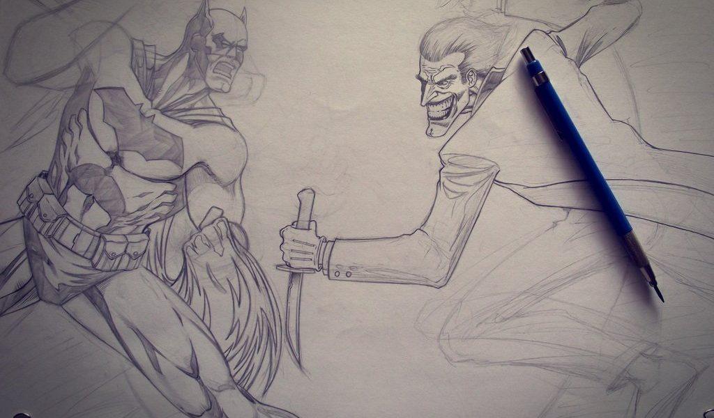 1024x600 Batman Vs Joker Drawing Batman Vs Jokermacacaralho