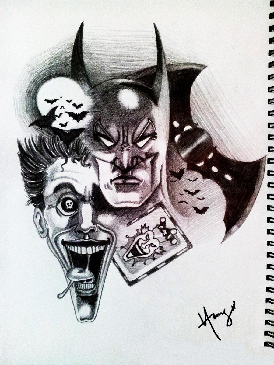 900x1200 Batman Vs Joker Drawing Batman Vs Jokerxmysteryteddy