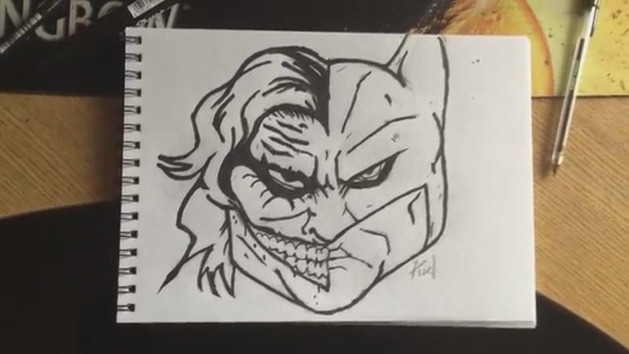 1280x720 Batman Vs Joker Drawing Giveaway (Speed Art)