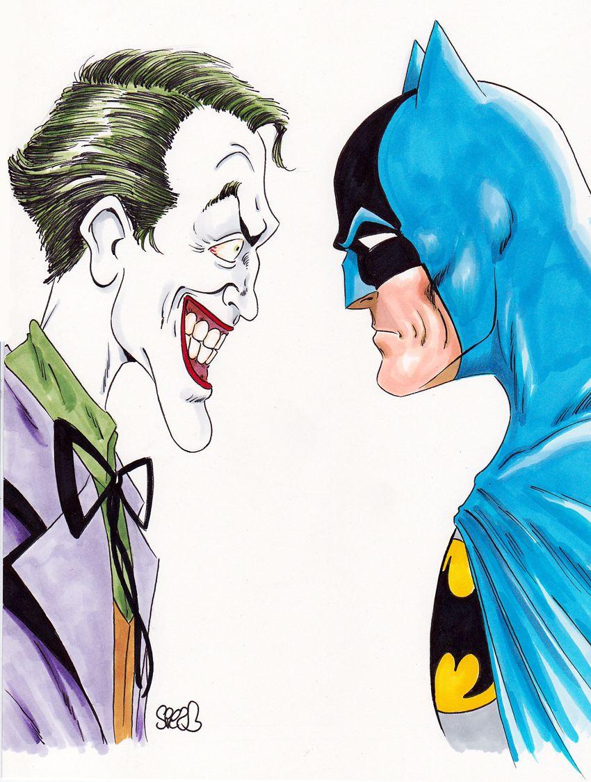 850x1125 Batman Vs Joker By Mark Spears Comic Book Batman
