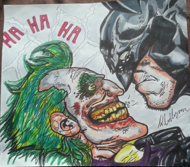 667x585 Joker Vs Batman Drawing Comic By Hellboundink