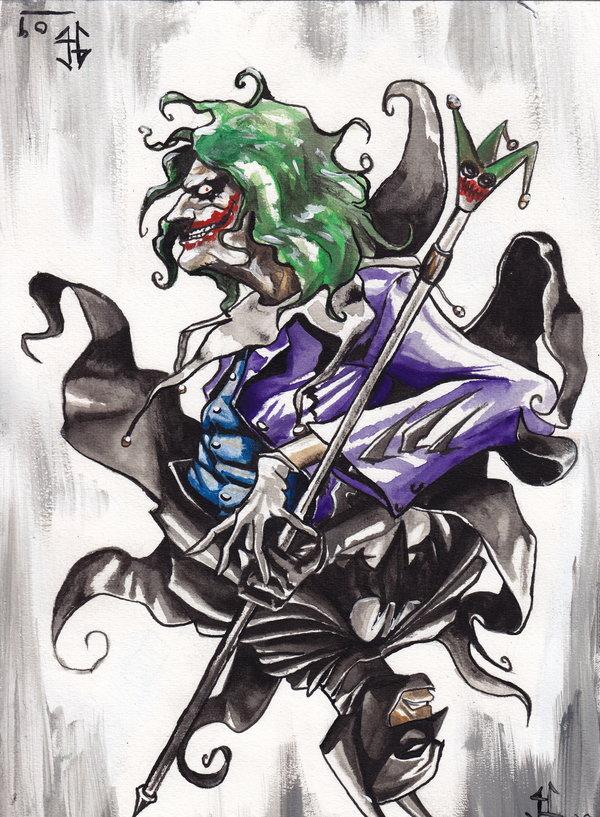 600x817 Joker Vs Batman Card By Justblah