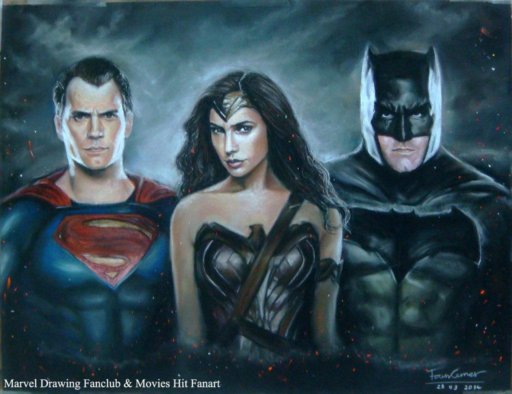 1024x788 Batman V Superman Pastel Drawing By Fawn Corner By Fawncorner