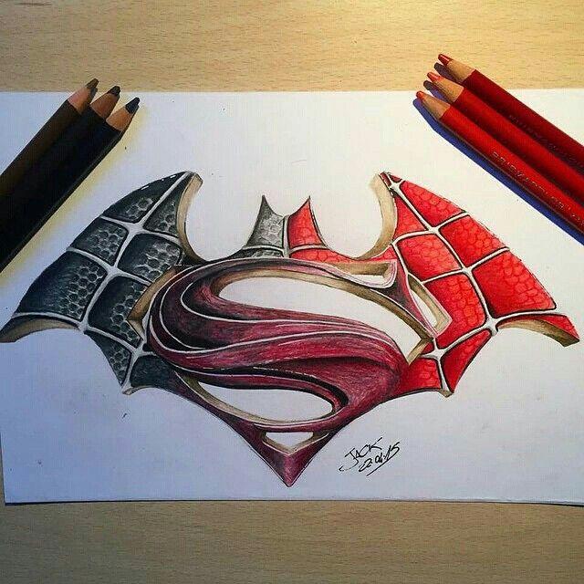 640x640 Batman Vs Superman Vs Spider Man Spiderman