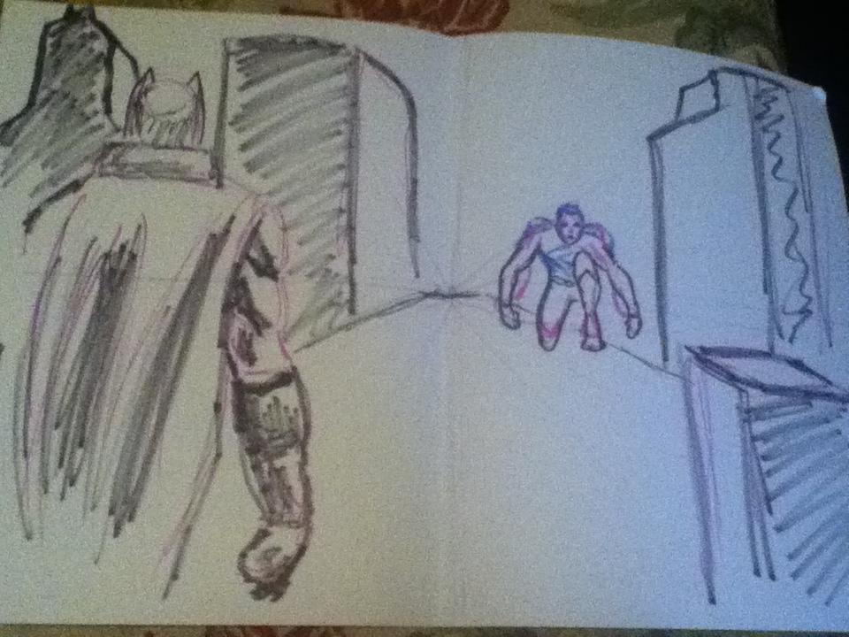 960x720 My Teachers Drawing Of Batman Vs Superman By Oracledk