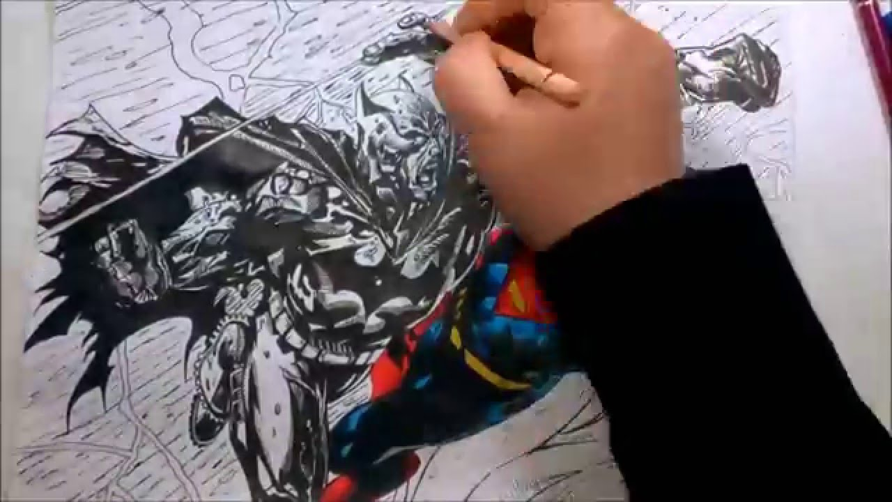 1280x720 Richard Friend's Batman Vs Superman Time Lapse Drawing