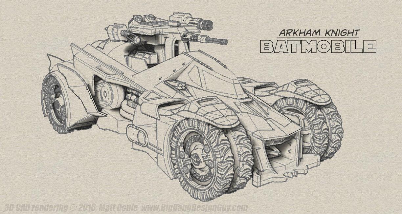 1224x653 Arkham Knight Batmobile