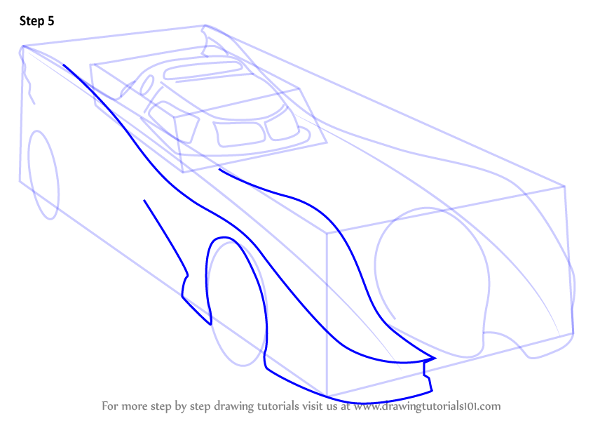846x600 Learn How To Draw A Batmobile 1989 (Batman) Step By Step Drawing