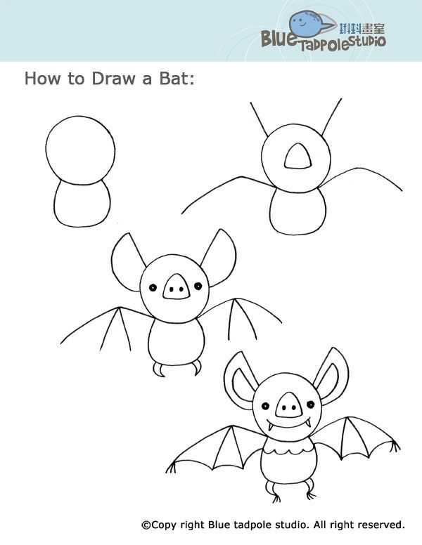600x776 Pin By Lovejoy Creations On Draw Simple Steps Bats