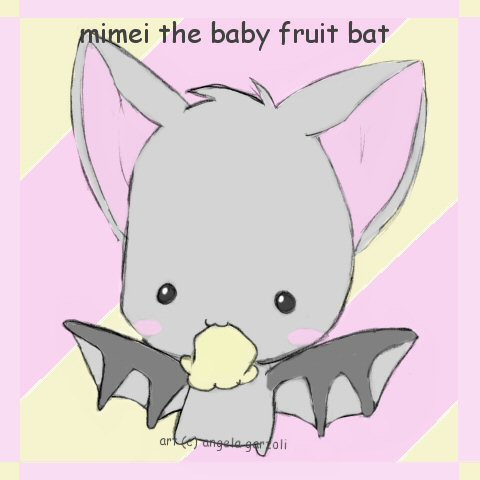 480x480 Mimei The Baby Fruit Bat By Saru Chan