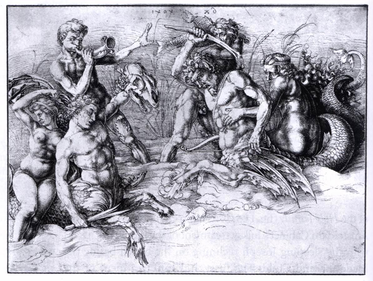 1194x900 Albrecht Battle Of The Sea Gods 1494 Pen Drawing, 289 X 381