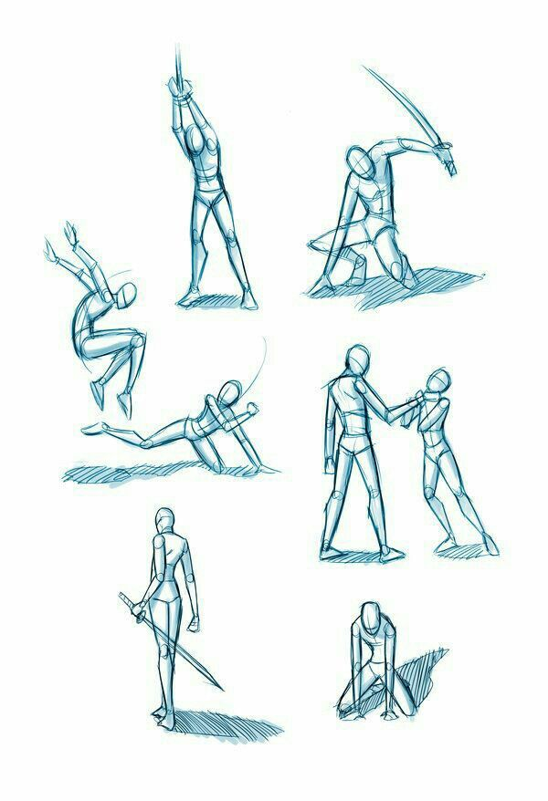 600x878 Battle Poses, Positions, Weapons, Sword How To Draw Mangaanime