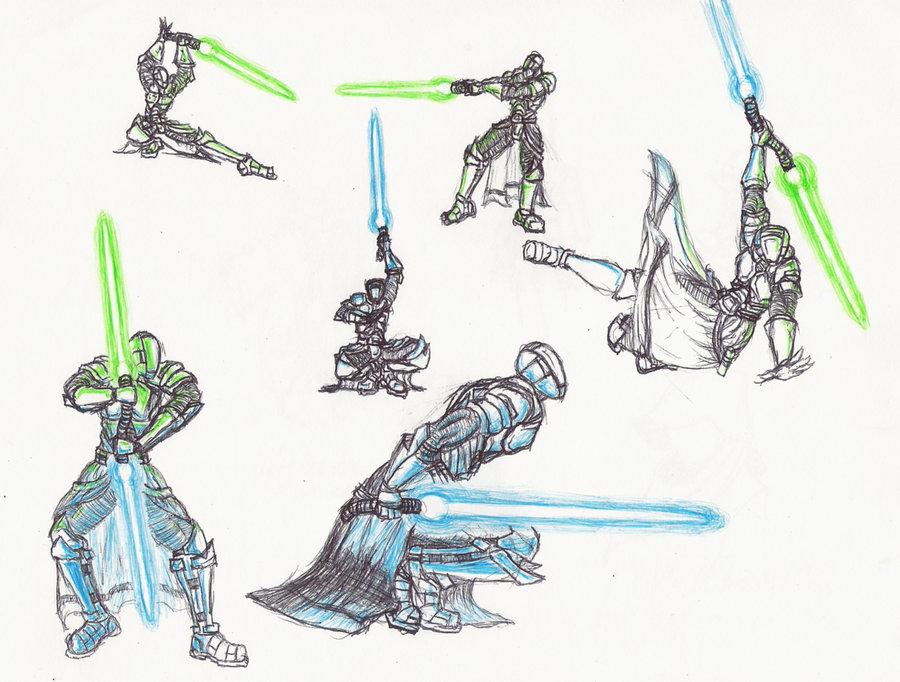 900x682 Jedi Poses By Moptop4000