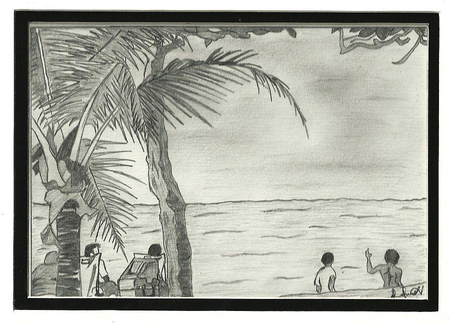 900x647 Maracas Bay Drawing By Chizzy Denzy
