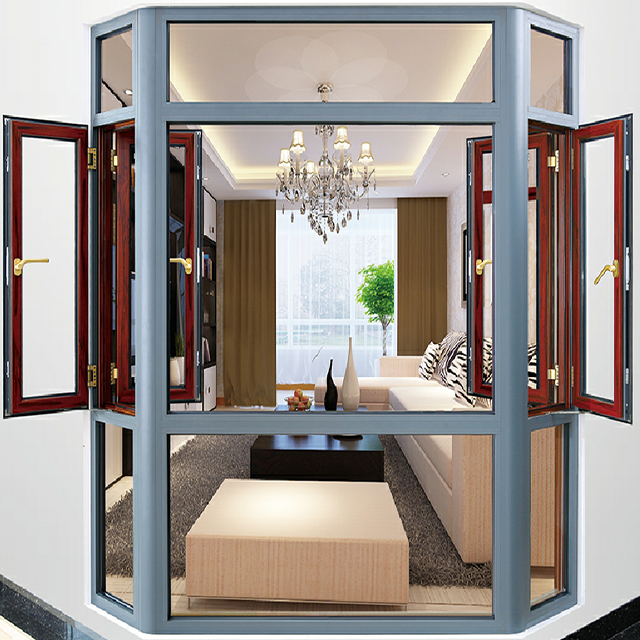 640x640 Aluminum Casement Window Drawing Bay Window Corner Butt Joint