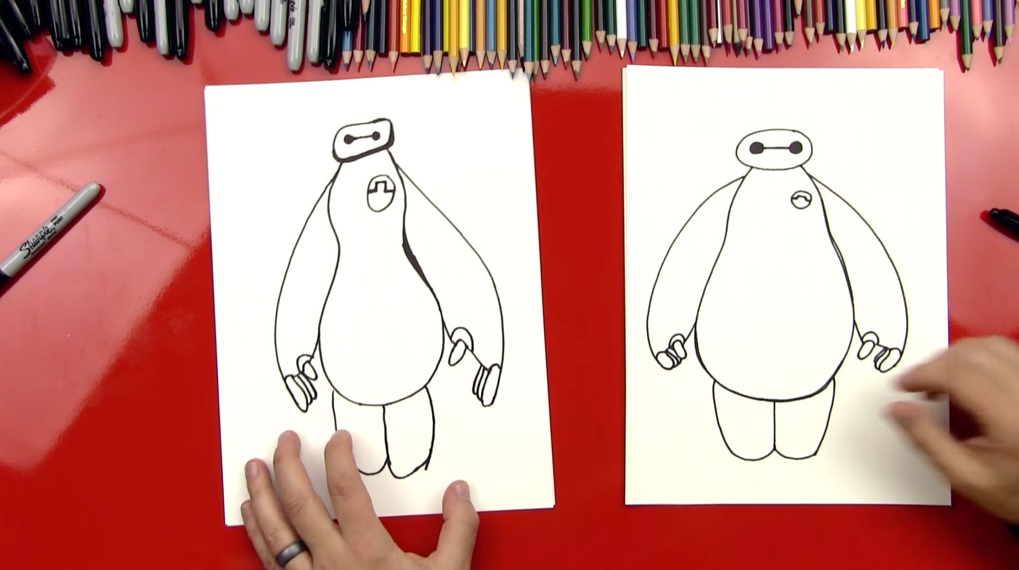 2095x1172 How To Draw Baymax From Big Hero 6