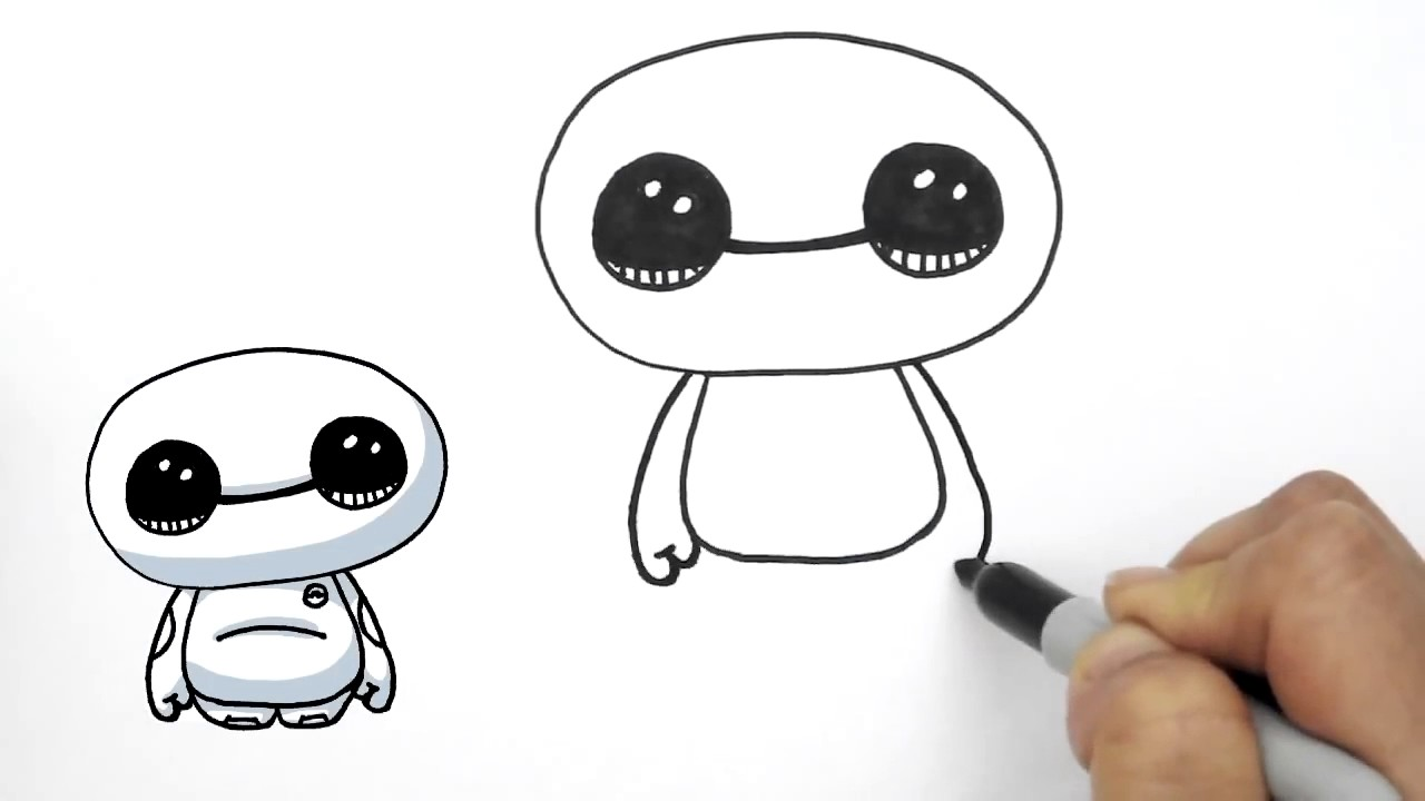 1280x720 How To Draw Baymax Cute From Big Hero 6