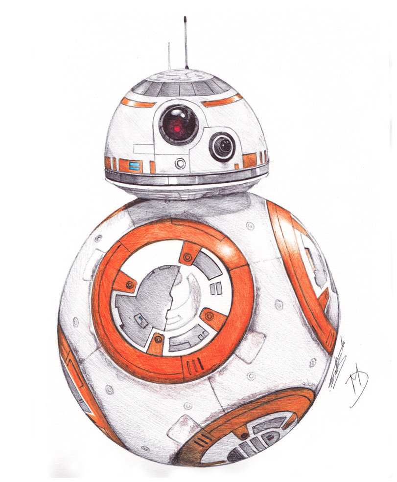 811x986 Bb 8 Ballpoint Pen Drawing By Demoose21