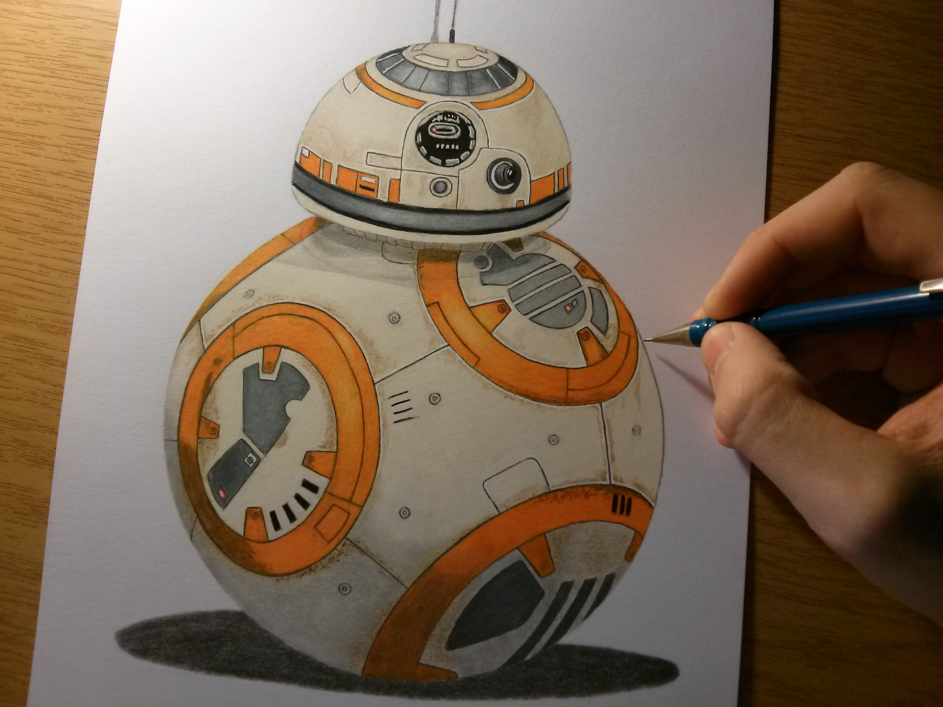 3264x2448 Drawing Bb8 From Star Wars The Force Awakens