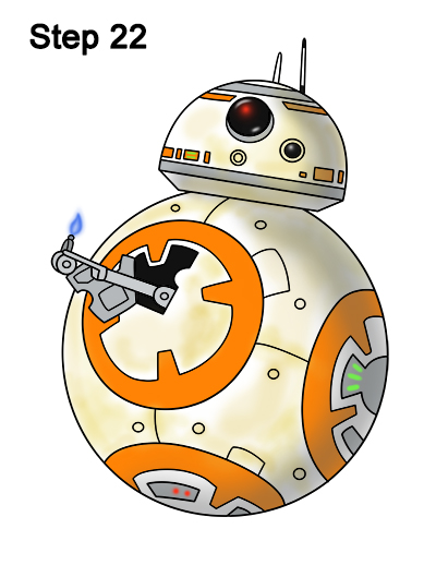 400x518 How To Draw Bb 8 (Star Wars The Force Awakens)
