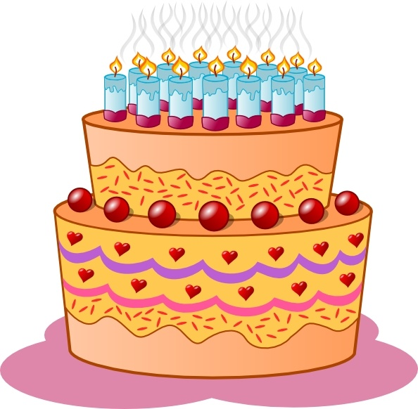 594x582 Birthday Cake clip art Free vector in Open office drawing svg