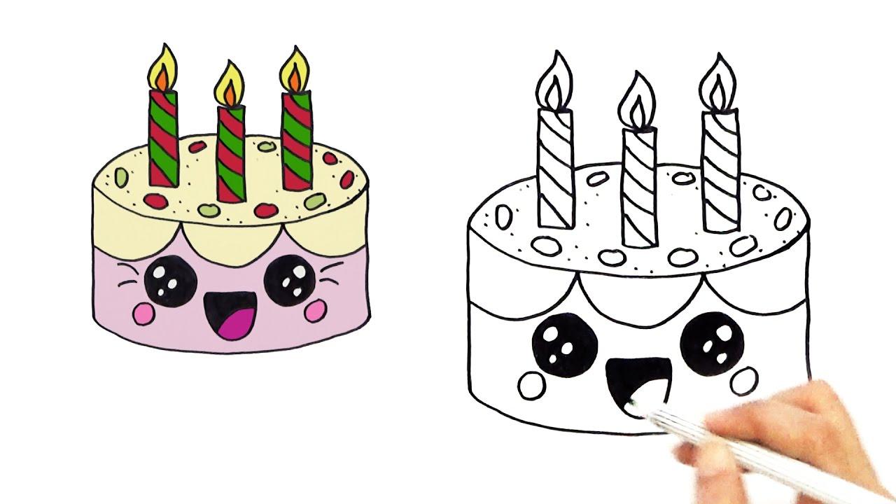 1280x720 Cute Birthday Drawings How To Draw A Cute Birthday Cake