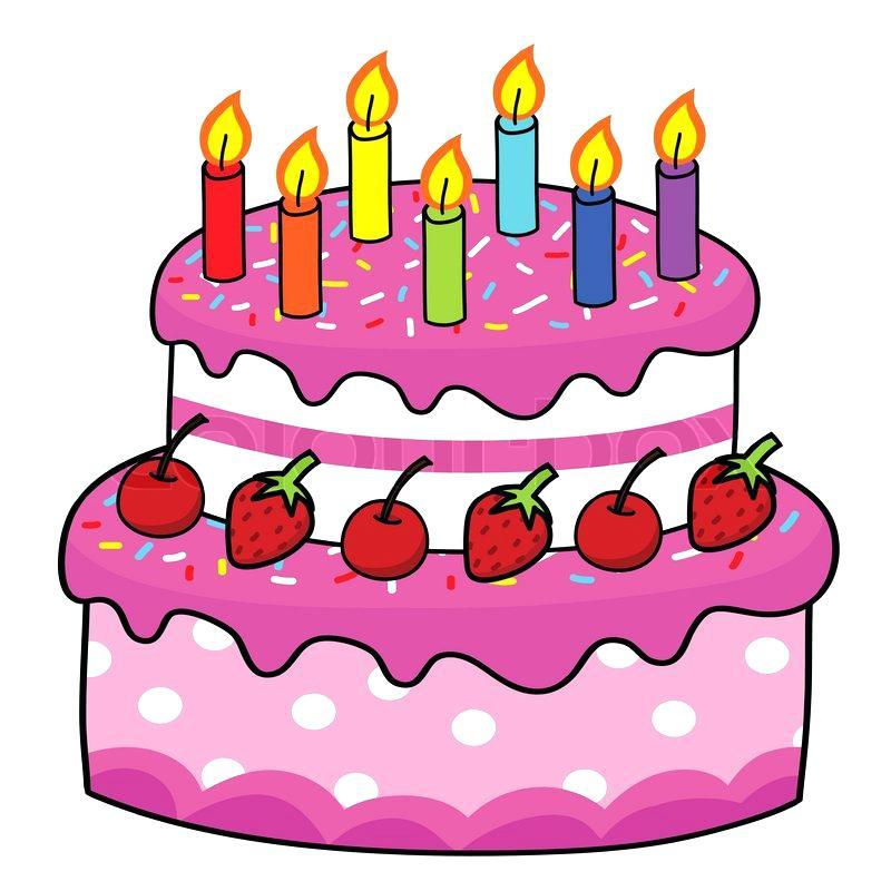 800x800 Funny Birthday Cake Cartoon Hand Drawing Stock Vector Sellit