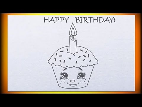 480x360 One Year Old How To Draw Birthday Cupcake