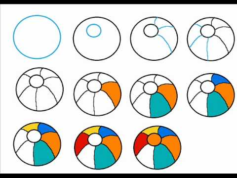 480x360 How To Draw A Beach Ball Step By Step Drawing Tutorial