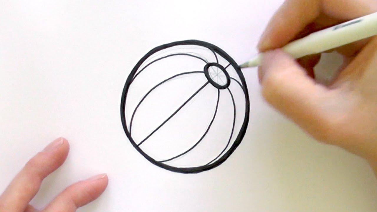 1280x720 How To Draw A Cartoon Beach Ball