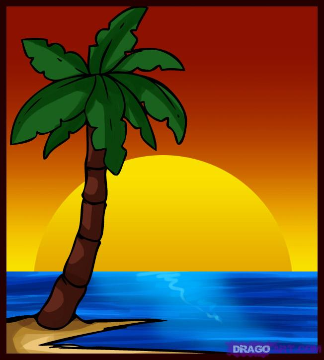 652x724 Palm Trees How To Draw A Palm Tree, Step By Step, Trees, Pop