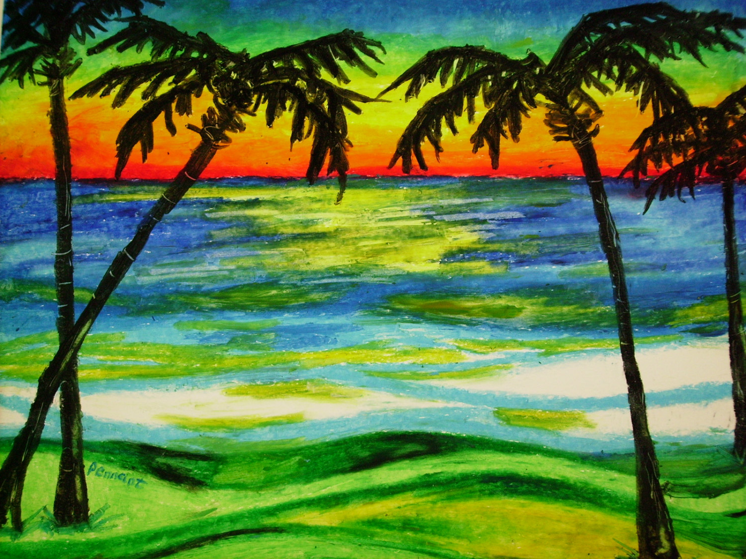 Beach Drawing at GetDrawings.com | Free for personal use Beach ...