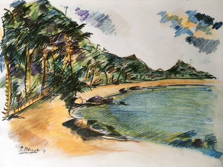 770x577 Saatchi Art Goa Beach Drawing By Peter Menne