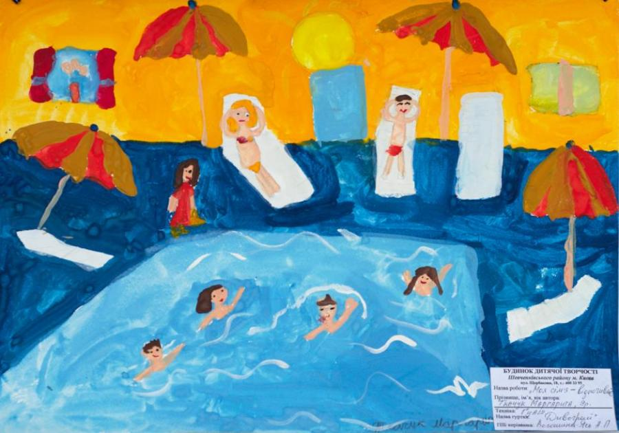 900x630 Beach. My Family. Drawings. Pictures. Drawings Ideas For Kids
