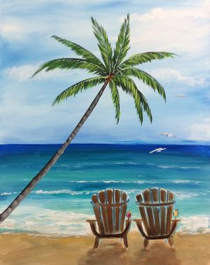 300x378 Gallery Easy Beach Painting Ideas