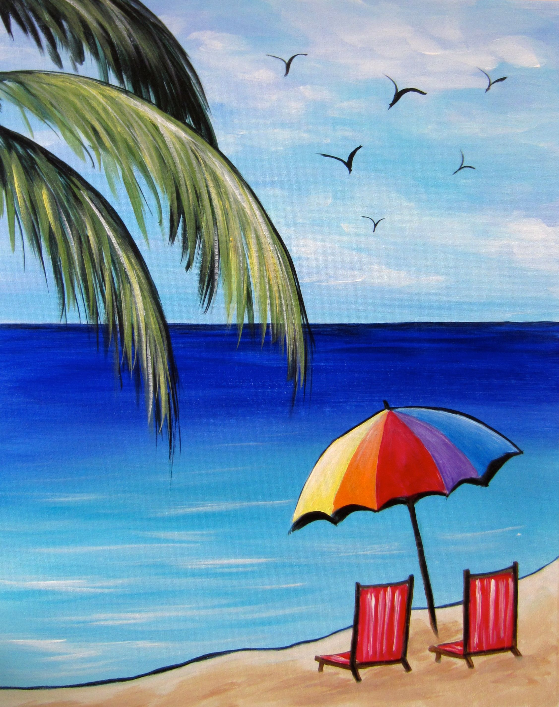 2254x2850 How To Draw A Beach Scene, Step By Step, Other, Landmarks Amp Places