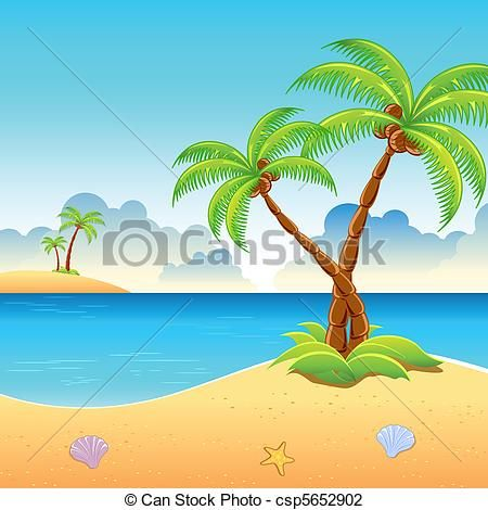 450x470 Art Drawing Of The Beach