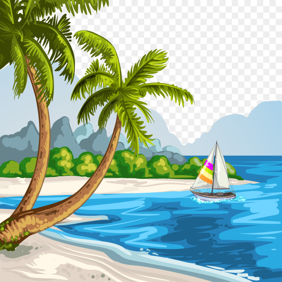 Beach Background Coloring Pages