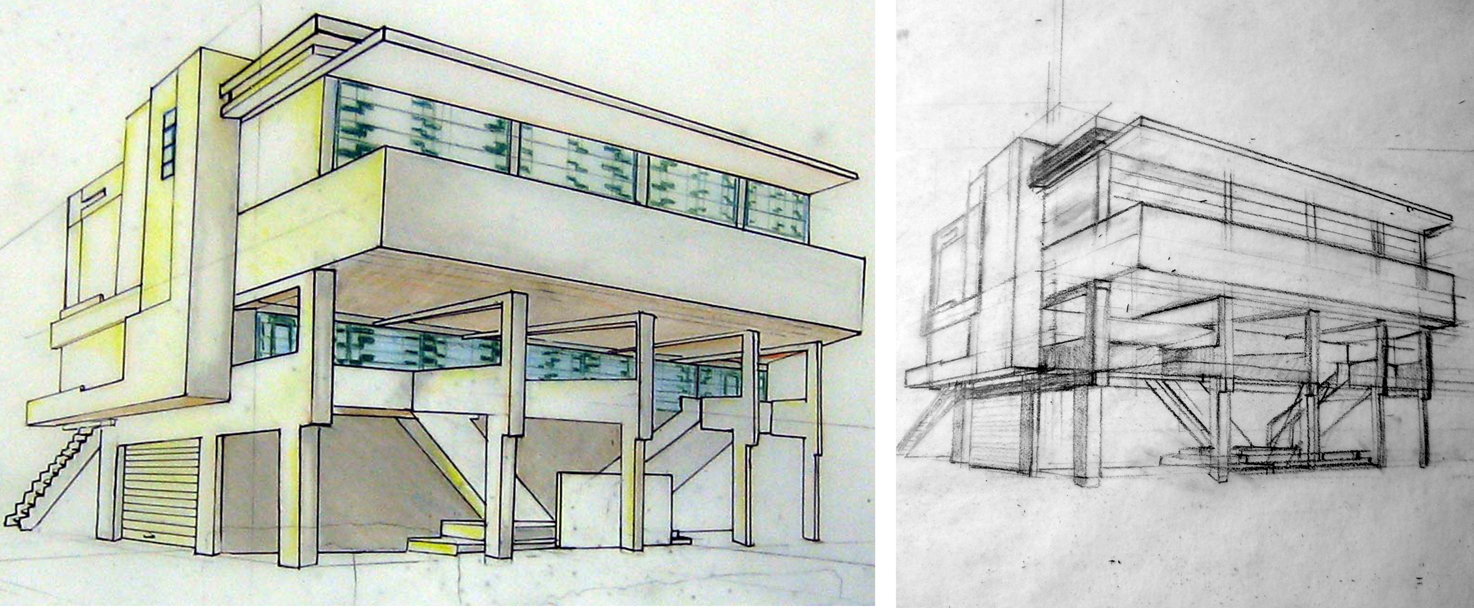 5100x2106 beach house drawing - Beach House Drawings