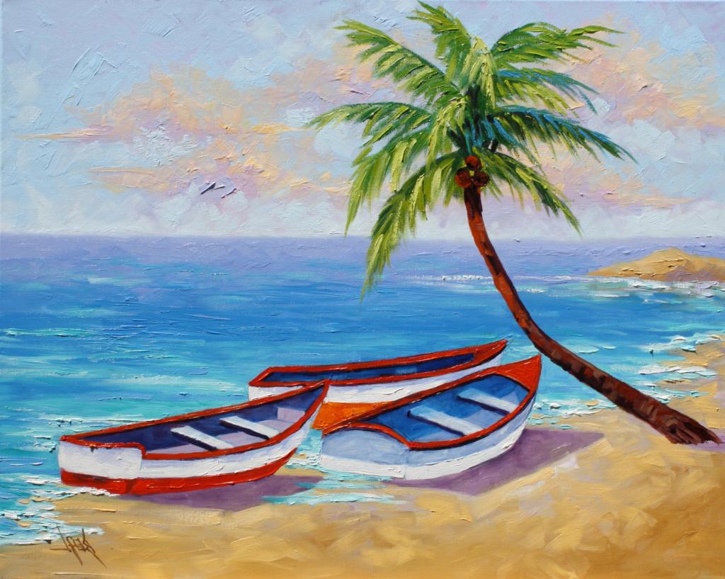 1024x817 Landscape Paintings Easy For Beginners Klejonka Painting Beach