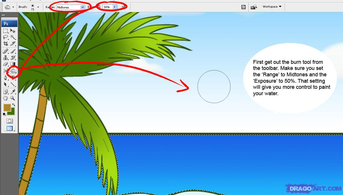 1182x672 Beach Scene For Drawing How To Draw A Beach Scene, Stepstep
