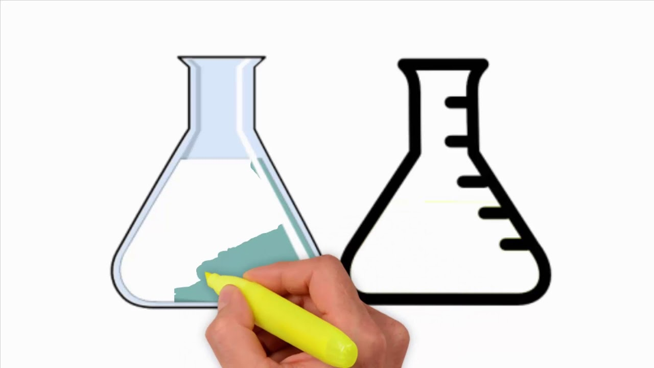1280x720 Coloring Pages Flask Drawing Test Tube Drawing Scientific