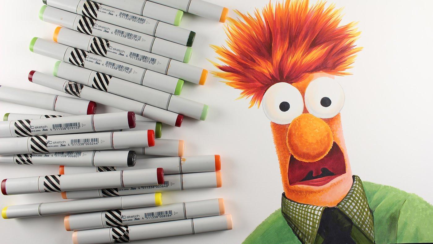 1400x788 Muppets Drawing Beaker!