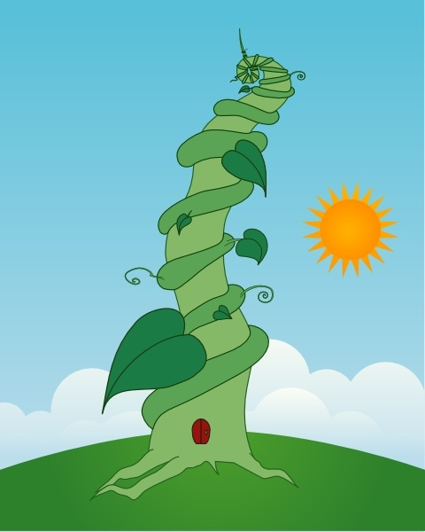 480x600 Beanstalk Clip Art Free Vector In Open Office Drawing Svg ( Svg