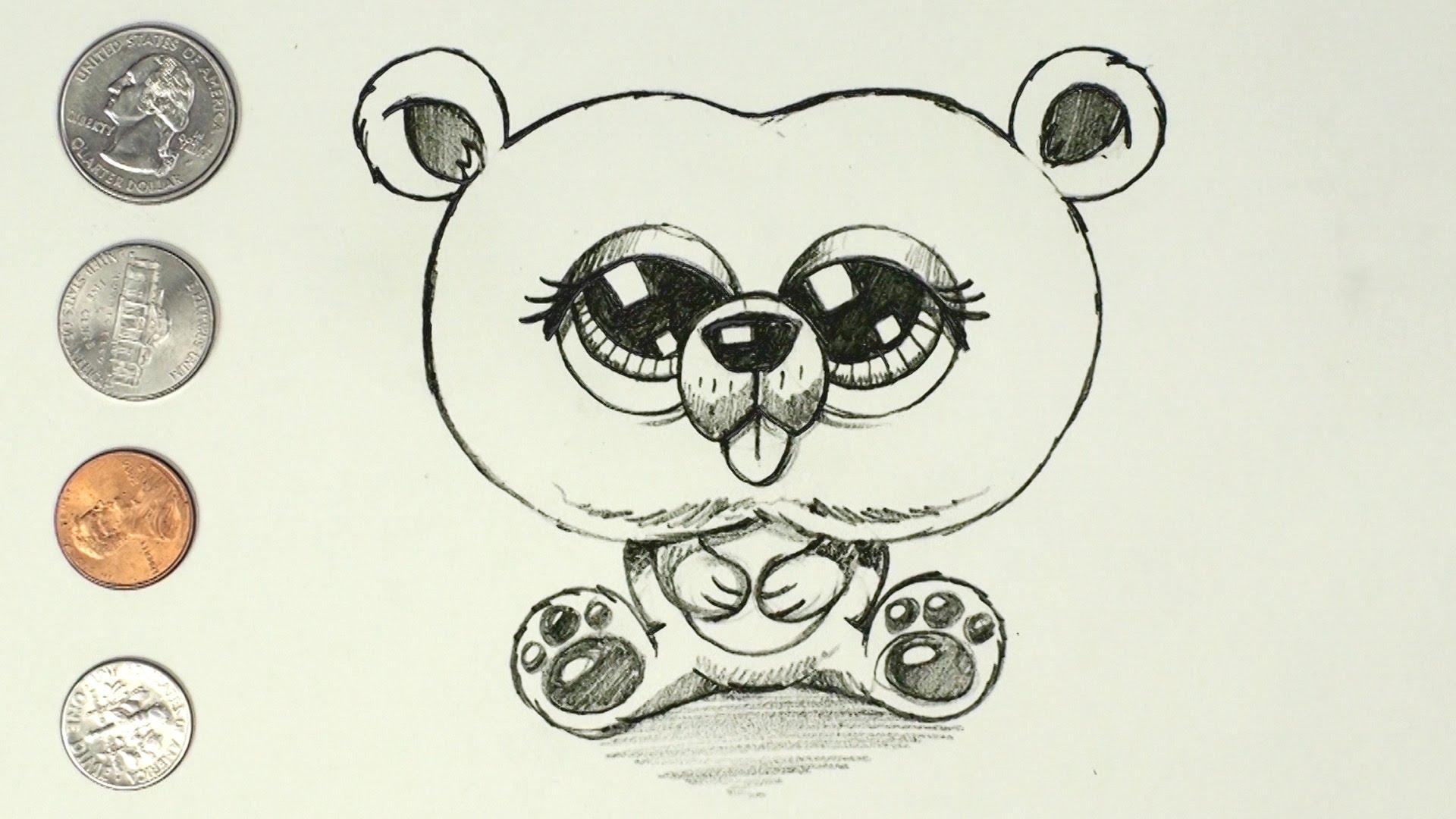 1920x1080 How To Draw A Cartoon Bear Cub Easy Amp Cute