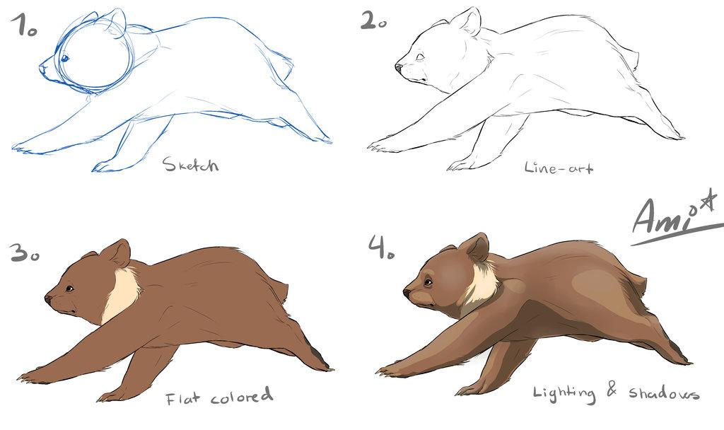 1024x608 Lets Draw A Bear Cub! By Ami Cat