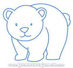 250x235 How To Draw A Cartoon Polar Bear Cub Drawing Lesson